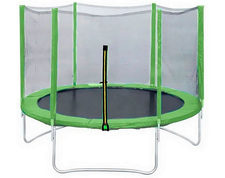 Батут с сеткой Trampoline Fitness DFC 5ft - 16ft (Lite-Green)